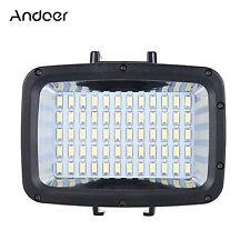 Andoer 60pcs LED Diving Fill-in Light Ultra Bright 1800LM Waterproof Underwat...