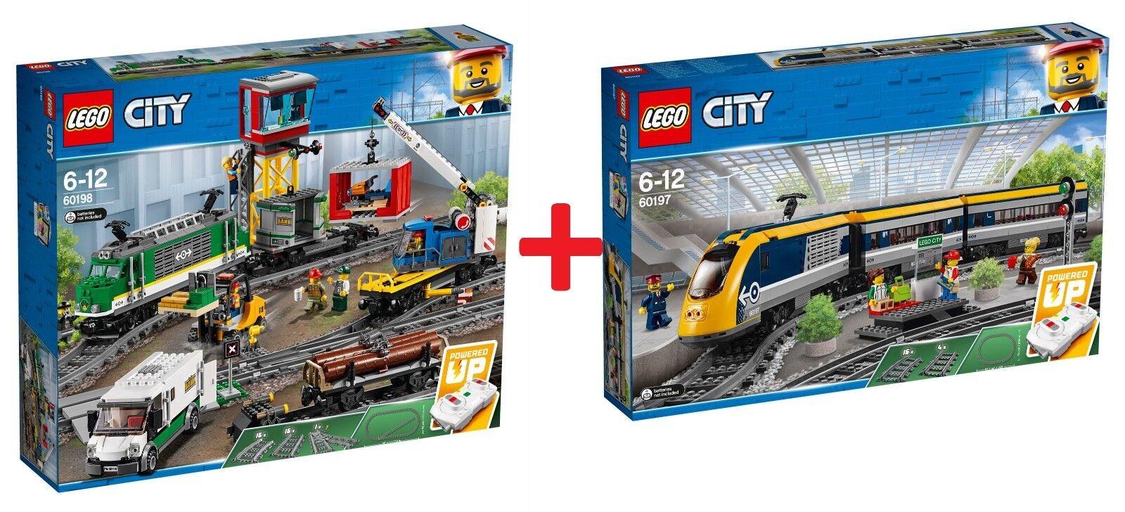 LEGO® COLLECTION COLLECTION COLLECTION 2018 - RC Train 60197 Passenger Train + 60198 Cargo Train - NEW 615900