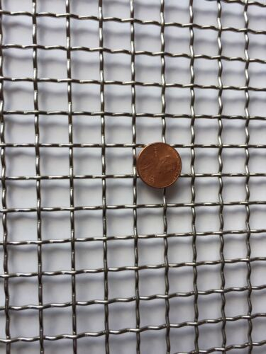 "Stainless Steel Crimped 304 Mesh #2 .063  Cloth Screen 16/""x36/"""