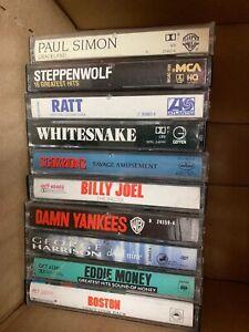 LOT OF 10 VINTAGE MIXED CASSETTE TAPES Ratt Scorpions Boston Whitesnake