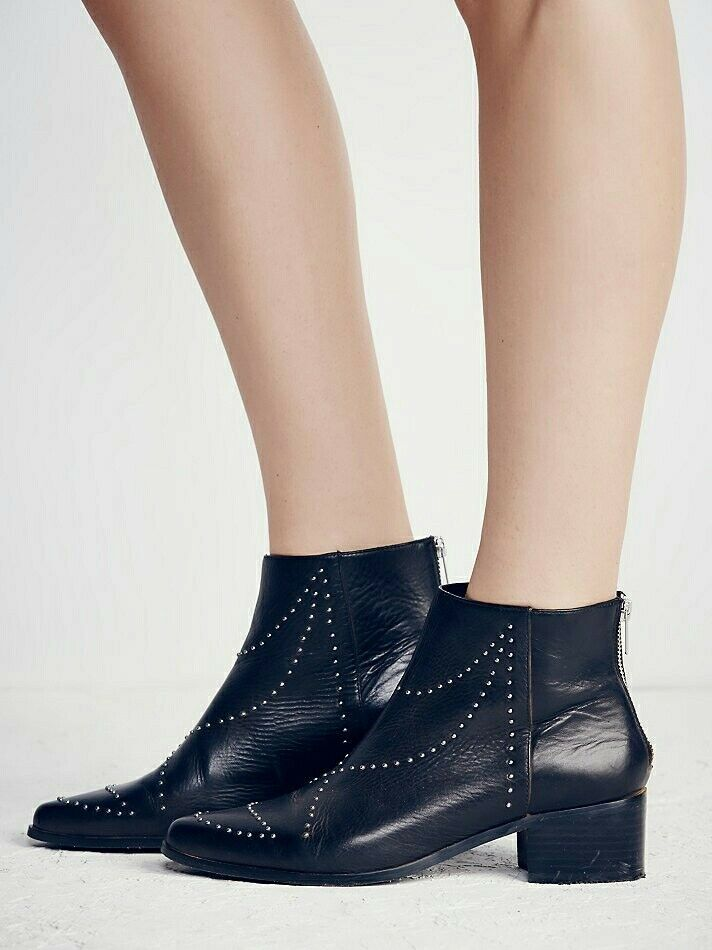 Free People Ankle Boot Vision To See Bootie Studded Leather Western Size 7  218