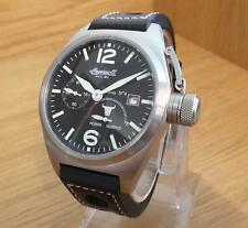 Mens Military Canteen Style Black Ingersoll Bison no4 IN1605BK Automatic Watch