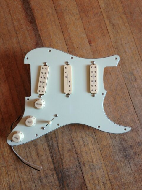 Prewired Strat Pickguard Mint Green Loaded W Seymour Duncan ...