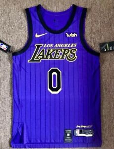 3e09c7ba1bd KYLE KUZMA LA LAKERS Nike WISH Purple CITY EDITION Jersey 52 XL %100 ...