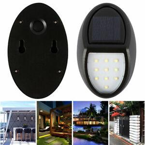 10-LED-Energia-Solar-Sensor-De-Movimiento-Seguridad-Exterior-De-Jardin-Luz-Lampara-de-Pared-de