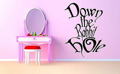 Wall Room Decor Art Vinyl Sticker Mural Decal Alice In Wonderland Quote AS1480