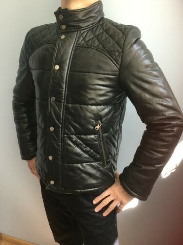 Givenchy men's leather puffer quilted jacket coat