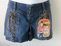 Zana Di Shorts Size 1 Jean Hipsters Boho Hippie Lace Up Detail With Tags