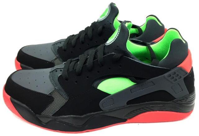 0266f94f2357 Nike Air Flight Huarache Low Black Red Green Mens Basketball Shoes ...
