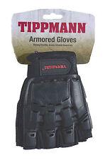 Tippmann Armored Black Tactical Half Finger Paintball Airsoft Gloves Medium