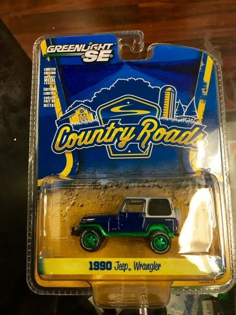 Greenlight 1 64 Country Roads Series 14 1990 Jeep Wrangler