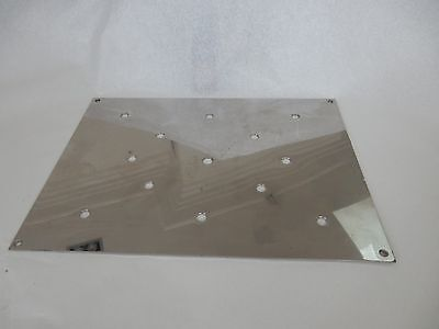 1950s 1970s // Modernist Style Vent Grill Cover Chrome Art Deco 1960s