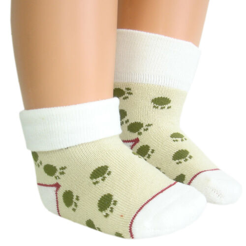 Baby boys anti-slip winter warm thick thermal towelling socks with flat toe seam