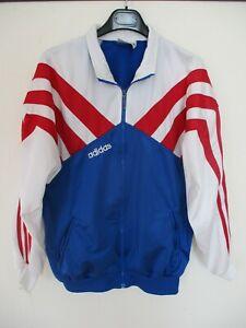 Détails sur Veste ADIDAS années 90 vintage tracktop jacket giacca bleu blanc rouge 186 D7 XL