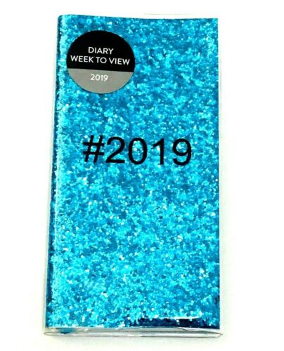 2019 Pocket SIZES  Week To View Diary Glitter Fashion Home Office and more