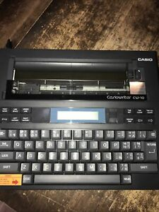 CasioWriter CW-10 Portable Electric Typewriter Word Processor with Case Used