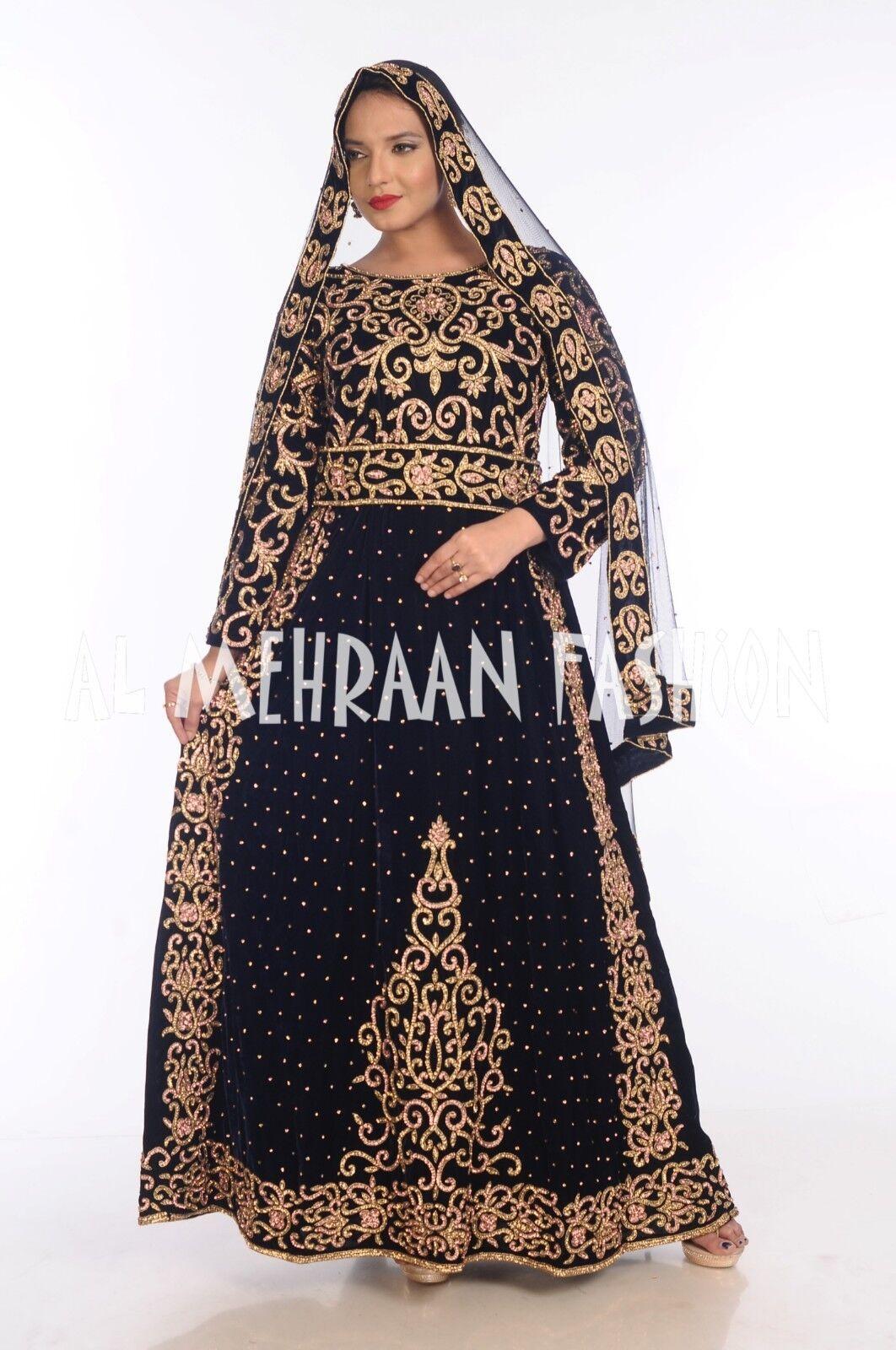 ROYAL ETHNIC WOMEN MAXI LONG SLEEVE ISLAMIC KAFTAN DRESS DRESS DRESS FROM AL MEHRAAN FASHION 5e51fe