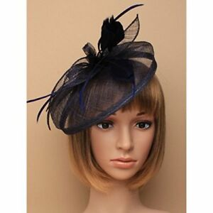 Blue and Navy  looped fascinator headband Weddings,Ladies Day Ascot Races