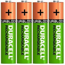 4 x Duracell AA 2450 mAh Rechargeable DURALOCK Batteries NiMH HR6 MN1500 DC1500