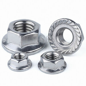 M10 Serrated Flange Nuts Fine Pitch 1.25mm