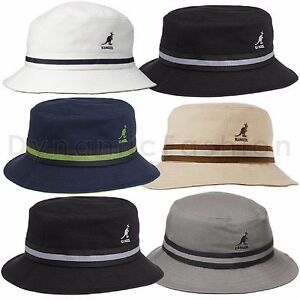 Image is loading Authentic-KANGOL-Stripe-Lahinch-Bucket-100-Cotton-Cap- cd1c3f9d1cbc