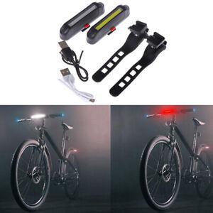Fahrradfahren-Wiederaufladbare-USB-Warnleuchte-LED-Ruecklichter-vorne-und-hinten