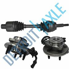 2 Front Wheel Hub and Bearing Assembly w/ ABS + Passenger Side CV Axle 4WD 4 Dr