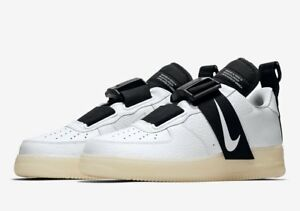 701df72406ed3 NIKE AIR FORCE 1 LOW UTILITY QS AV6247-100 White Black Men's ...