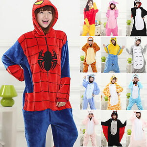 d76e6b7c1512 Image is loading Hot-Unisex-Pajamas-Adult-Kigurumi-Cosplay-Costume-Animal-