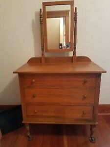 Vintage Maple Princess Dresser With