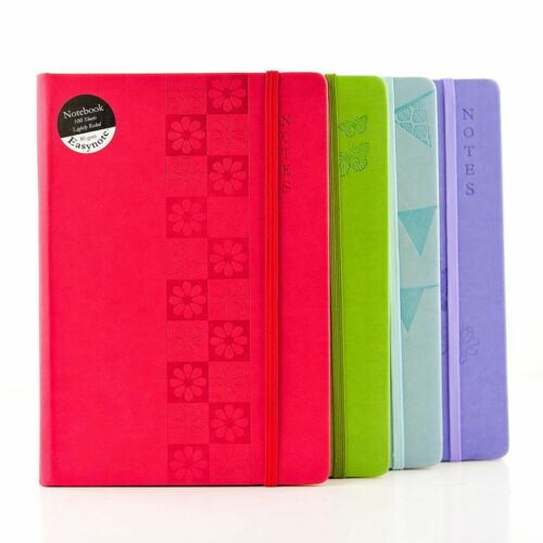 A4//A5 Premium Soft Touch Notebook Notepad 80gsm Ruled Page Pastel Colours Hardba