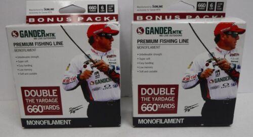 Gander MTN Premium Ligne de pêche 6 lb environ 2.72 kg 660 yds clair .009 LOT 2 BOBINES
