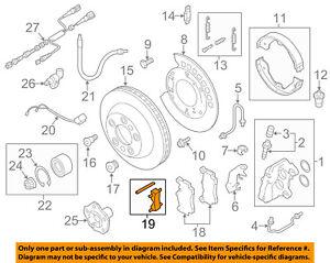 AUDI OEM 07-15 Q7 Brake-Rear-Brake Pads Mount Kit 7L0698269 | eBay | Audi Brakes Diagram |  | eBay