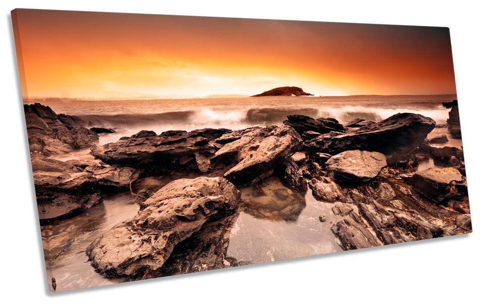 Quatre mers, Xiangyun, Fulai, Sunset cadeau du Nouvel An, non-stop Sunset Fulai, beach surf roches panoramique toile wall art box frame 581438