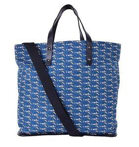 dolce gabbana canvas leder shopper tasche mit hai print blau schwarz 05513 8056538333112 ebay. Black Bedroom Furniture Sets. Home Design Ideas