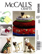 McCall's Pattern M6455 Dog Bed Leash, Case Harness Vest Coat S-XL clothes 6455