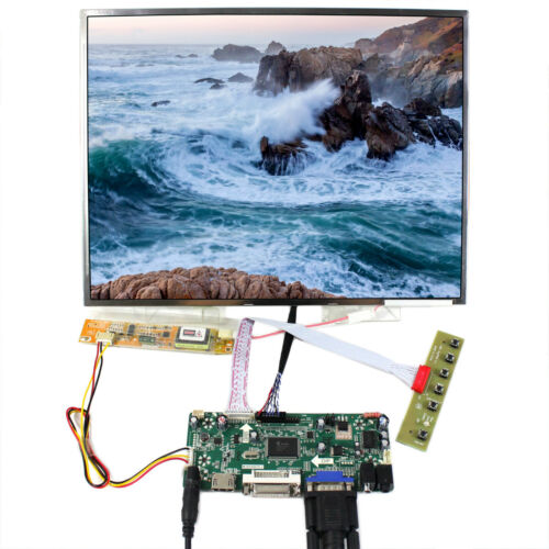 """HDMI DVI VGA Audio LCD Driver Board 14.1/"""" 1024x768 LTN141XF LP141XA LCD Screen"""
