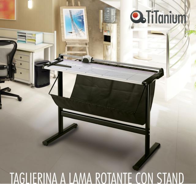 RIFILATRICE DISEGNI TAGLIERINA TITANIUM A0 LUCE TAGLIO CM.130 CON SUPPORTO/TELO