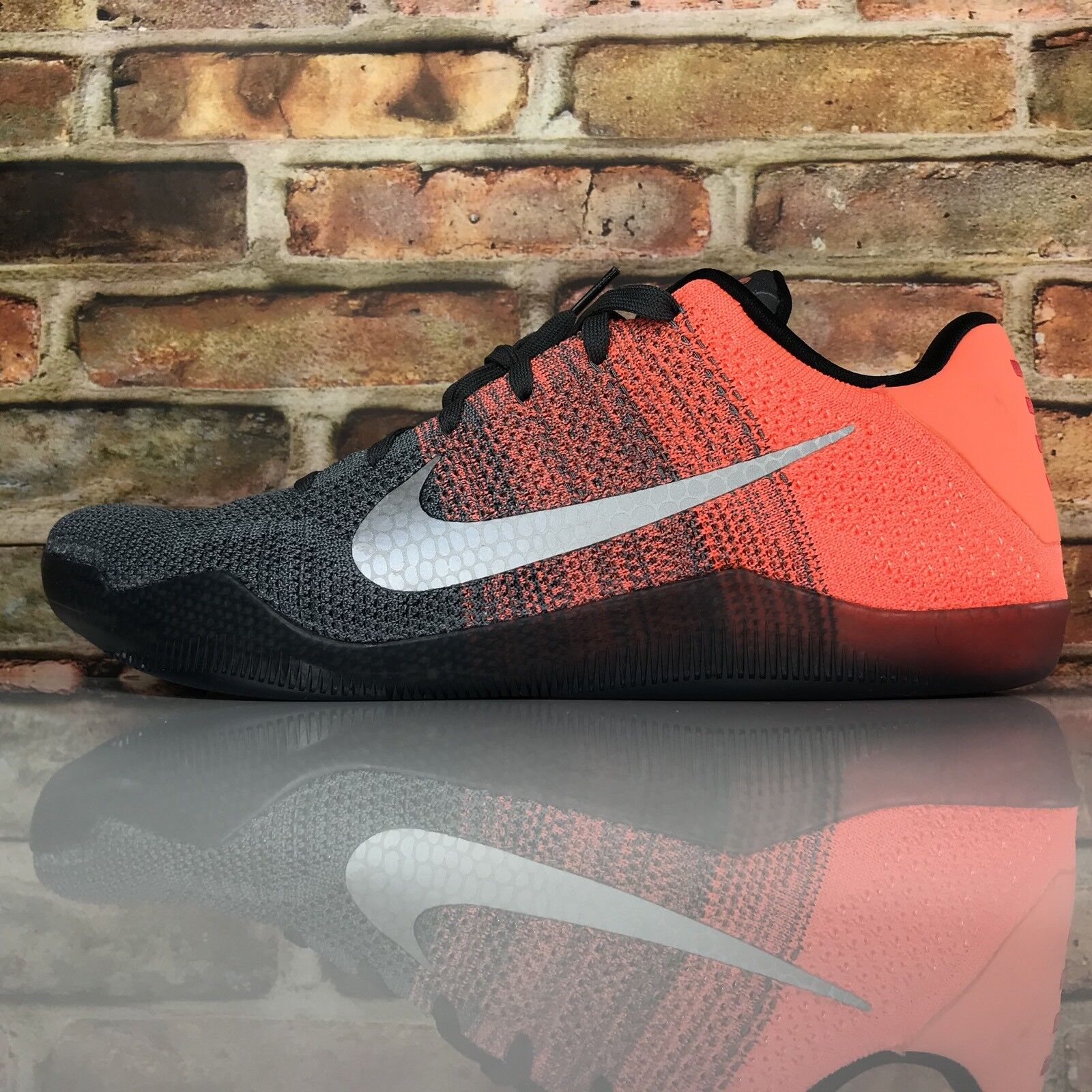 Nike Kobe XI 11 Elite Low Easter Mens Size 13 Dark Grey Bright Mango 822675-078