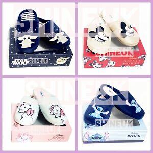 Disney Ladies character indoor Slippers Primark Novelty slip on shoes Gift Box
