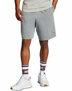 Champion-Men-039-s-Shorts-Pockets-Authentic-Cotton-9-Inch-Gym-Workout-Warm-Jersey