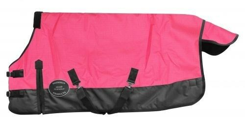 Showman PINK Adjustable 56 -62  1200 Denier Winter PONY YEARLING Horse Blanket