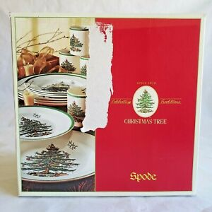 Spode-CHRISTMAS-TREE-12-pc-Buffet-Set-w-Mugs-dinner-plates-salad-plates-mugs
