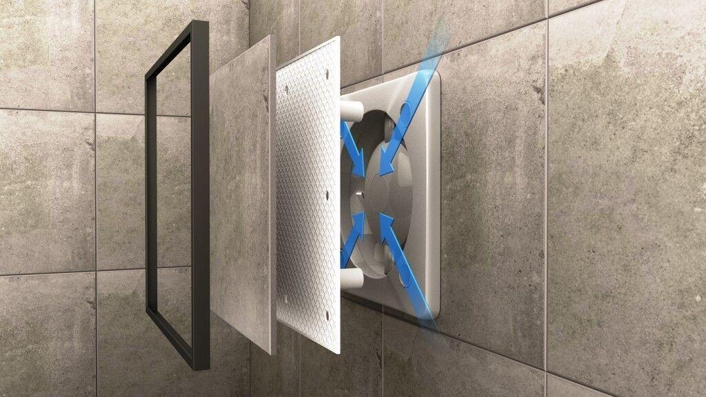 NEU SEHR LEISE Ventilator Badlüfter / 100 mm - 125 mm / für FLIESEN / EU Marke