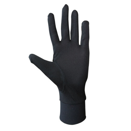 Jasmine Silk Pure Silk Liner Gloves Thermal Ski Inner Gloves-Black
