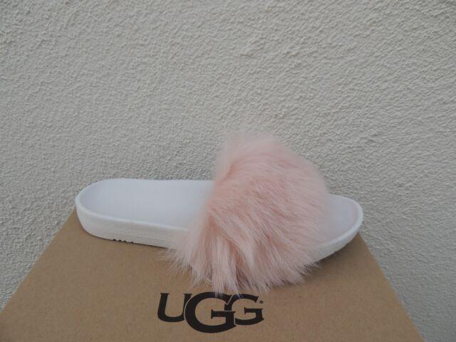 0f85f924ad1 UGG Women's Sz 5 Royale Shearling Fur Pool Slide SLIPPER Sandals 1018875