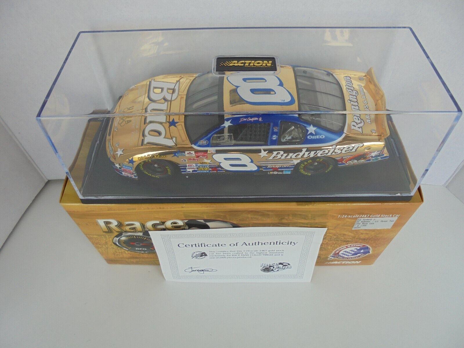 Dale Earnhardt Jr  8 Budweiser nous olylmpic Team 2000 MC 24kt or NASCAR Diecast