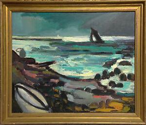 Gunnar-Jonn-1904-1963-SAILBOAT-AT-SEA