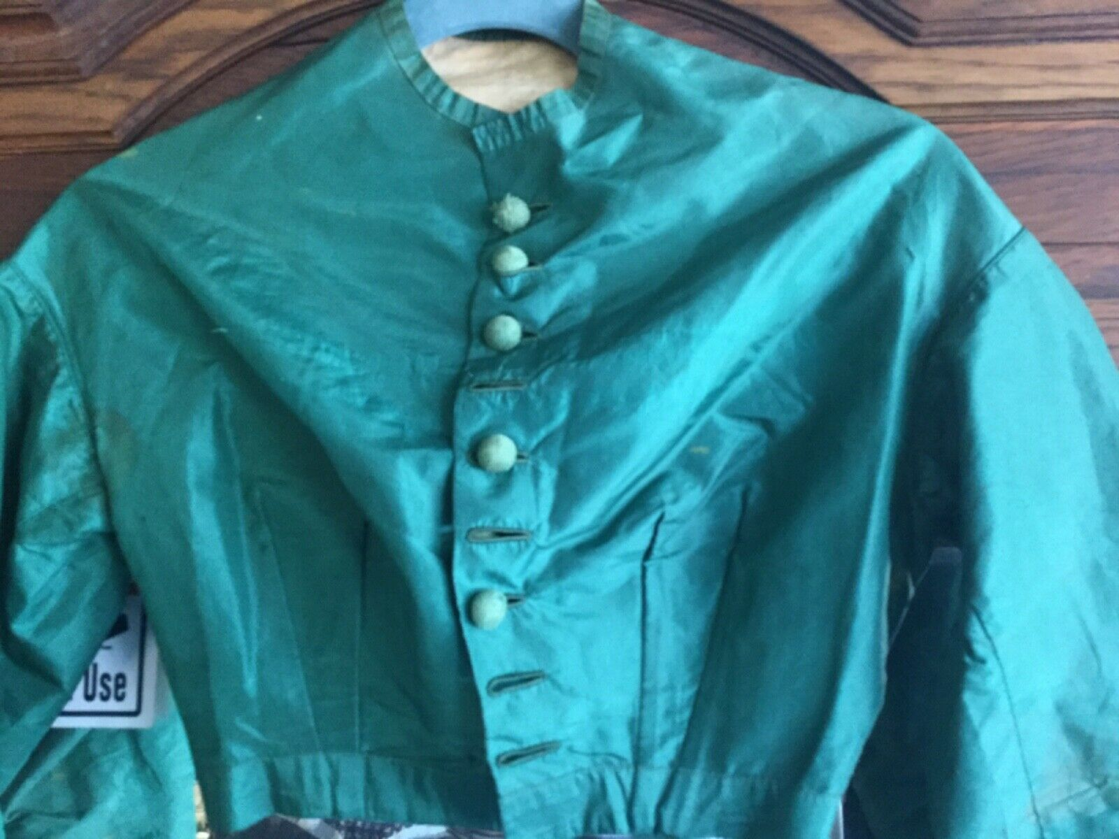 Antique Victorian1860s Green Bodice Blouse  - image 3