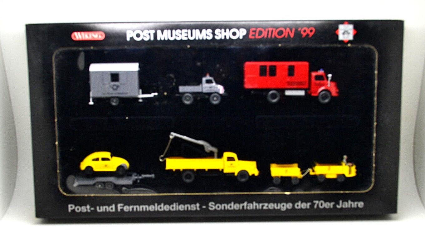 Wiking post 80-03  speciale confezione con 7 modelli  - Museo postale Negozio' 99